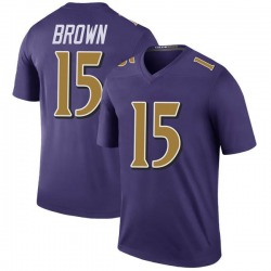 Nike Marquise Brown Baltimore Ravens Legend Purple Color Rush Jersey - Youth