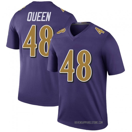 Nike Patrick Queen Baltimore Ravens Legend Purple Color Rush Jersey - Youth
