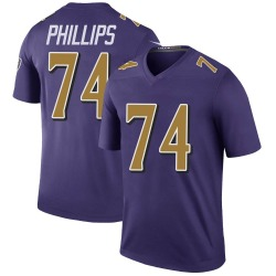 Nike Tyre Phillips Baltimore Ravens Legend Purple Color Rush Jersey - Men's