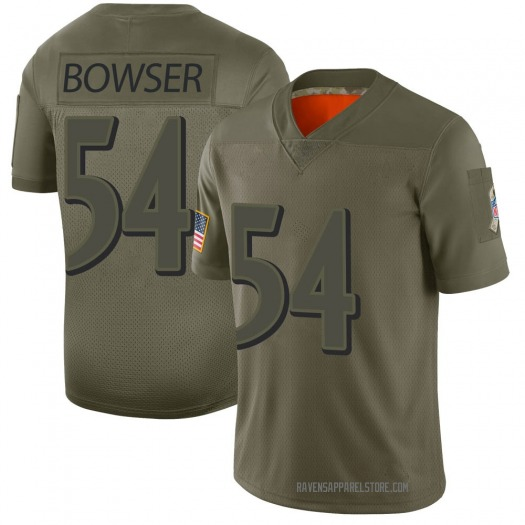 Nike Tyus Bowser Baltimore Ravens Limited Camo 2019 Salute to Service Jersey - Youth