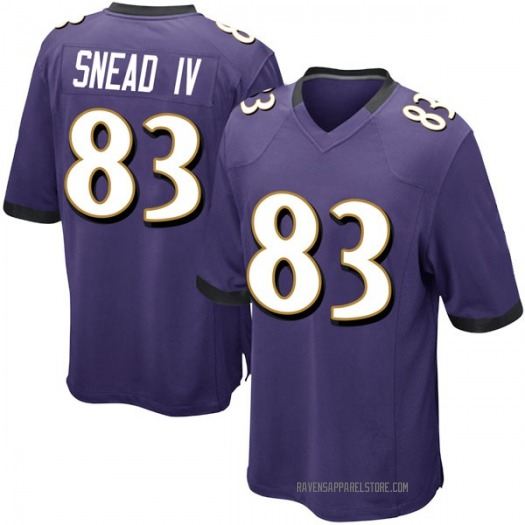 Nike Willie Snead IV Baltimore Ravens Game Purple Team Color Jersey - Men's