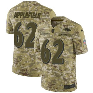 Nike Marcus Applefield Baltimore Ravens Limited Camo 2018 Salute to Service Jersey - Men's