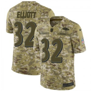 Nike DeShon Elliott Baltimore Ravens Limited Camo 2018 Salute to Service Jersey - Youth