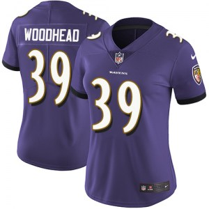 Nike Danny Woodhead Baltimore Ravens Limited Purple Team Color Jersey - Women's