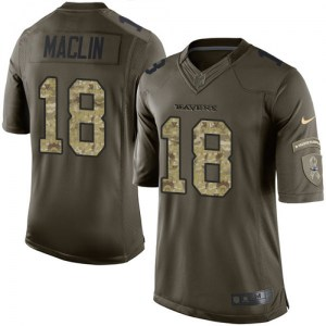 Nike Jeremy Maclin Baltimore Ravens Limited Green Salute to Service Jersey - Youth