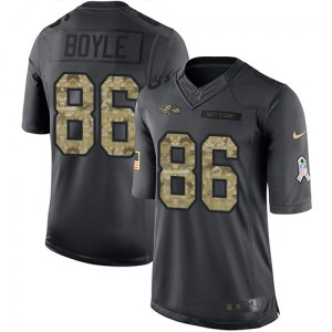 Nike Nick Boyle Baltimore Ravens Limited Black 2016 Salute to Service Jersey - Men's