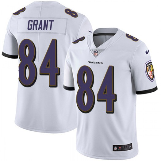 Nike Janarion Grant Baltimore Ravens Limited White Vapor Untouchable Jersey - Youth