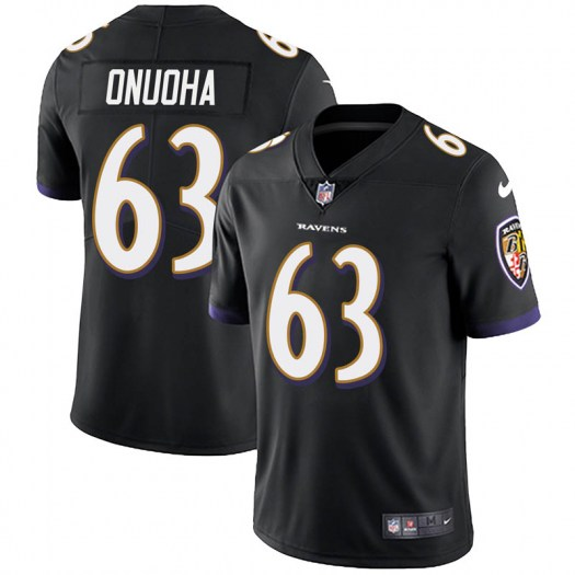 Nike Michael Onuoha Baltimore Ravens Limited Black Alternate Vapor Untouchable Jersey - Youth