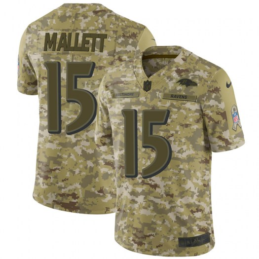Nike Ryan Mallett Baltimore Ravens Limited Camo 2018 Salute to Service Jersey - Youth
