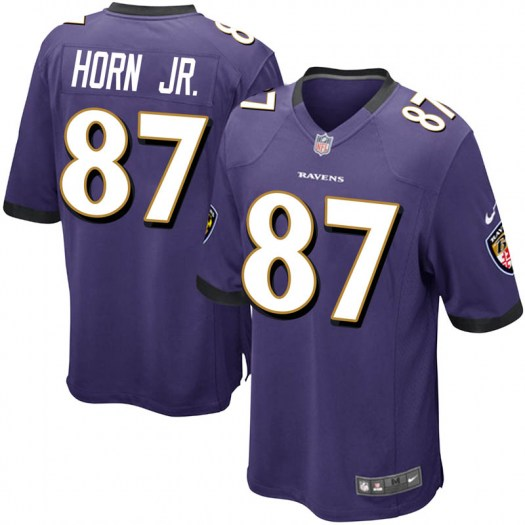 Nike Joe Horn Jr. Baltimore Ravens Game Purple Team Color Jersey - Youth