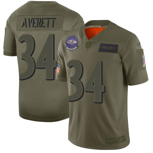 Nike Anthony Averett Baltimore Ravens Limited Camo 2019 Salute to Service Jersey - Men's