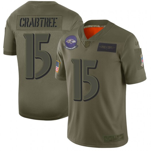 Nike Michael Crabtree Baltimore Ravens Limited Camo 2019 Salute to Service Jersey - Men's