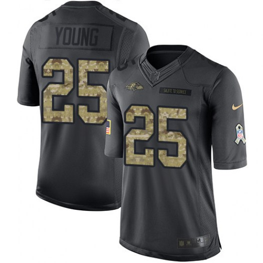 Nike Tavon Young Baltimore Ravens Limited Black 2016 Salute to Service Jersey - Men's