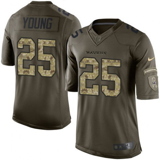 Nike Tavon Young Baltimore Ravens Limited Green Salute to Service Jersey - Men's
