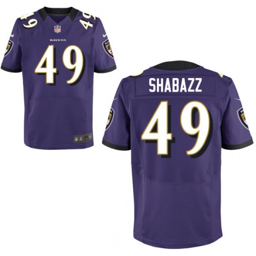 Nike Al-Hajj Shabazz Baltimore Ravens Elite Purple Jersey - Men's
