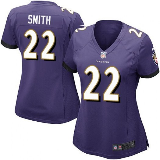 Nike Jimmy Smith Baltimore Ravens Game Purple Team Color Jersey - Women's