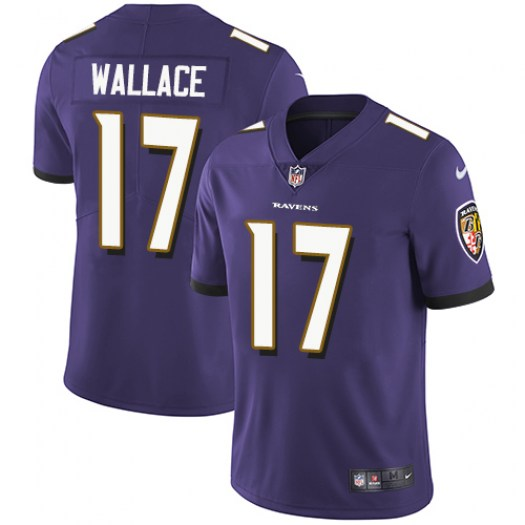 Nike Mike Wallace Baltimore Ravens Limited Purple Team Color Jersey - Men's